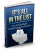 Its All In The List MRR Ebook with master resale rights