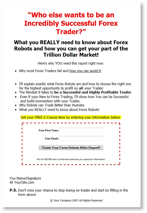 Product picture Forex Robots Email Messages Series PLR