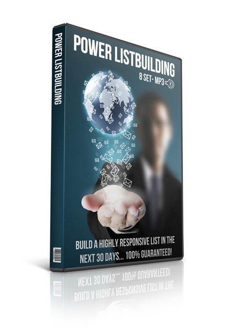 Product picture Power Listbuilding PLR Audio with Private Lable Rights