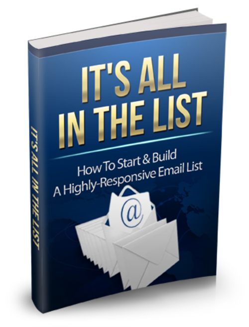 Product picture Its All In The List MRR Ebook with master resale rights